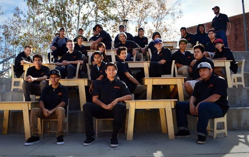 EHS Wood Shop Students 'Furnish Holiday Cheer'
