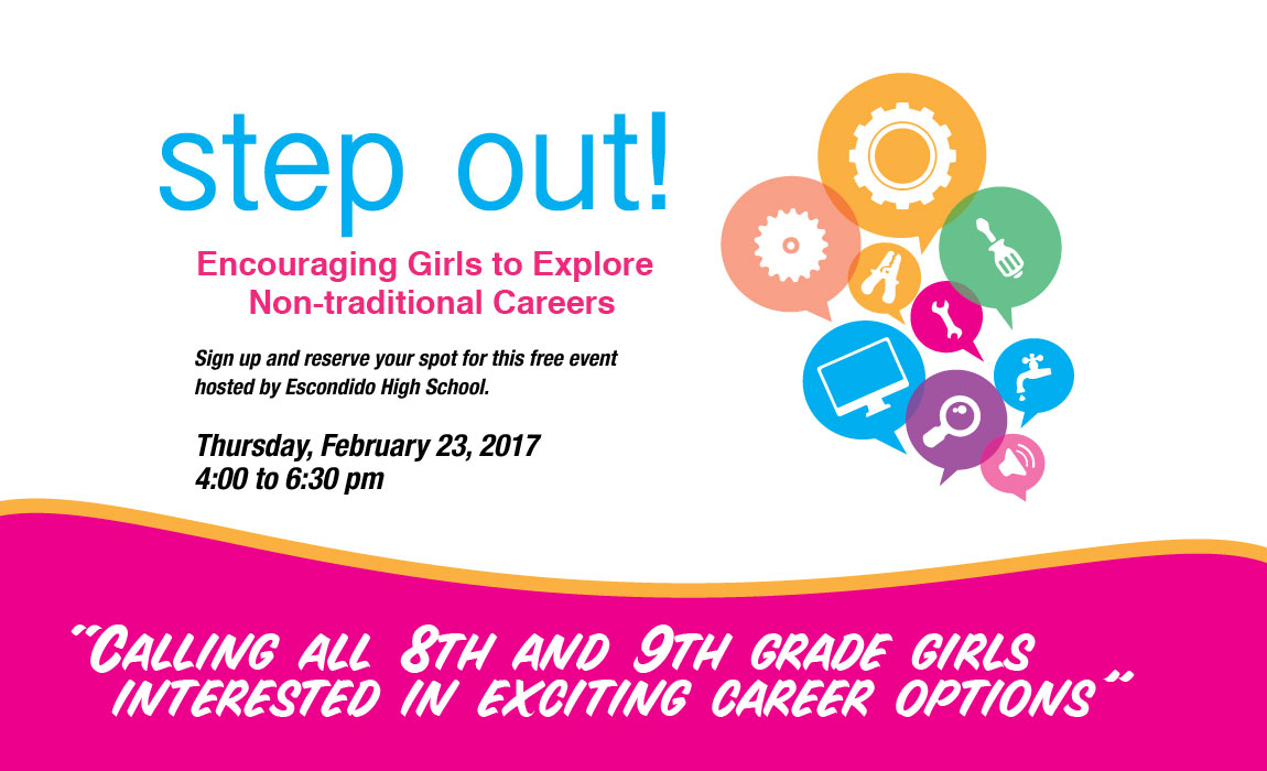 Step Out! Calling All 8th & 9th Grade Girls Interested in Exciting Career Options