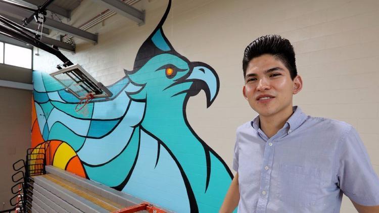 Firebird mural kindles school spirit for Del Lago Academy