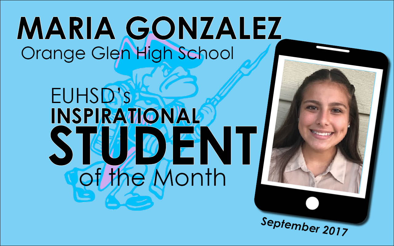 EUHSD Inspirational Student of the Month: Maria Gonzalez