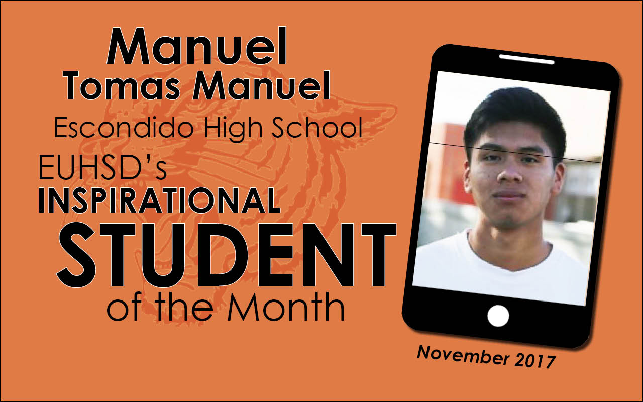 EUHSD's Inspirational Student of the Month: Manuel Tomas Manuel