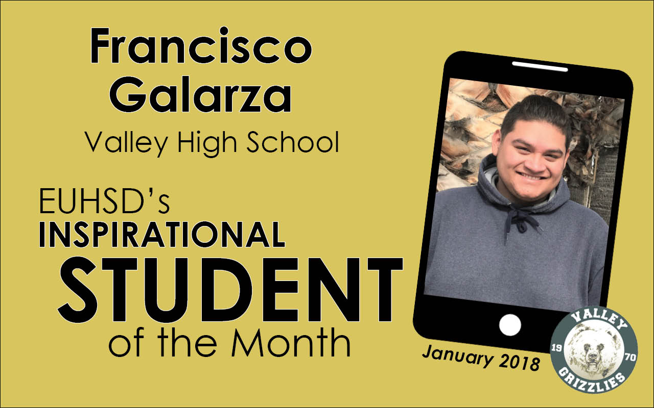 EUHSD's Inspirational Student of the Month: Francisco Galarza
