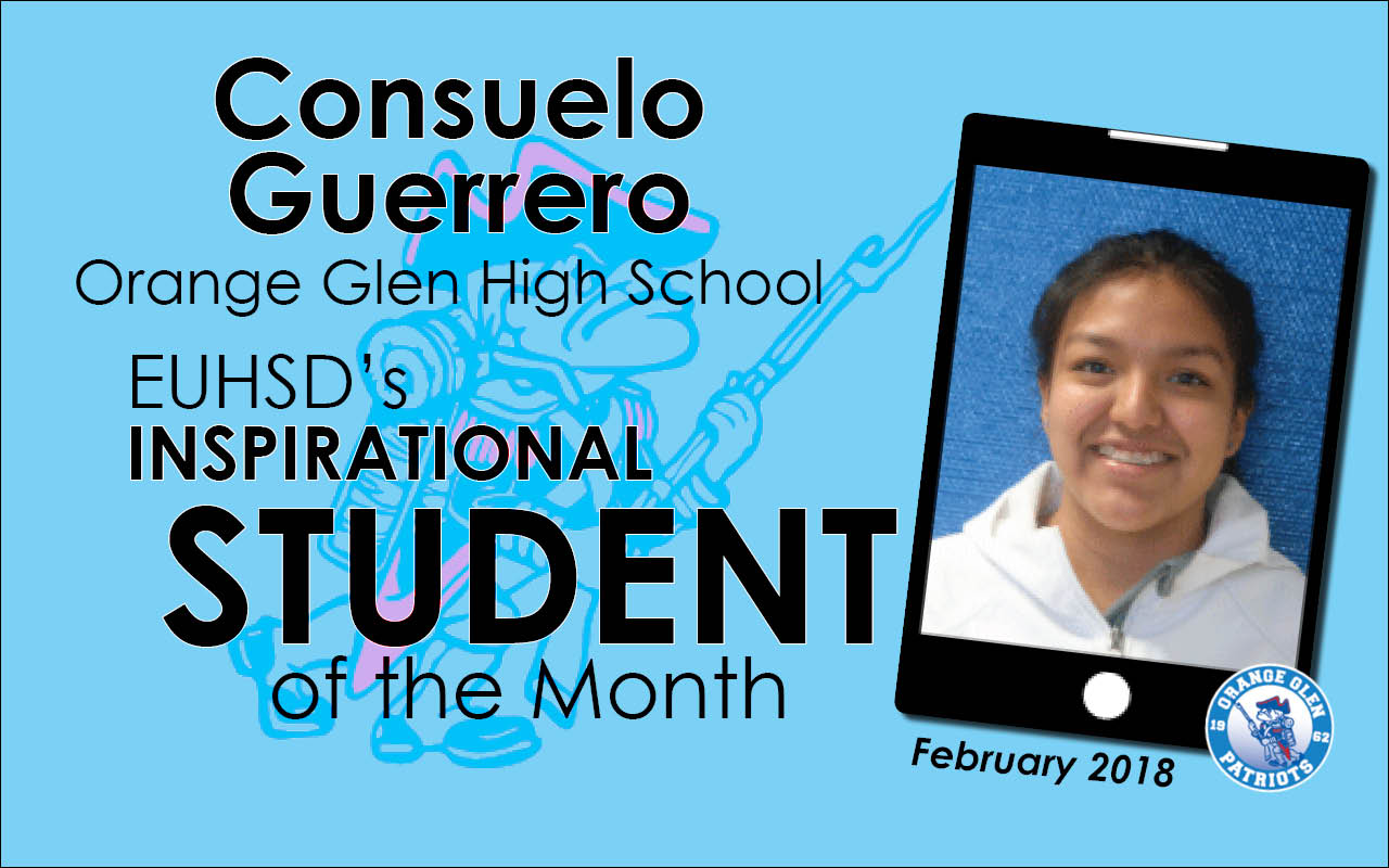 EUHSD's Inspirational Student of the Month: Consuelo Guerrero