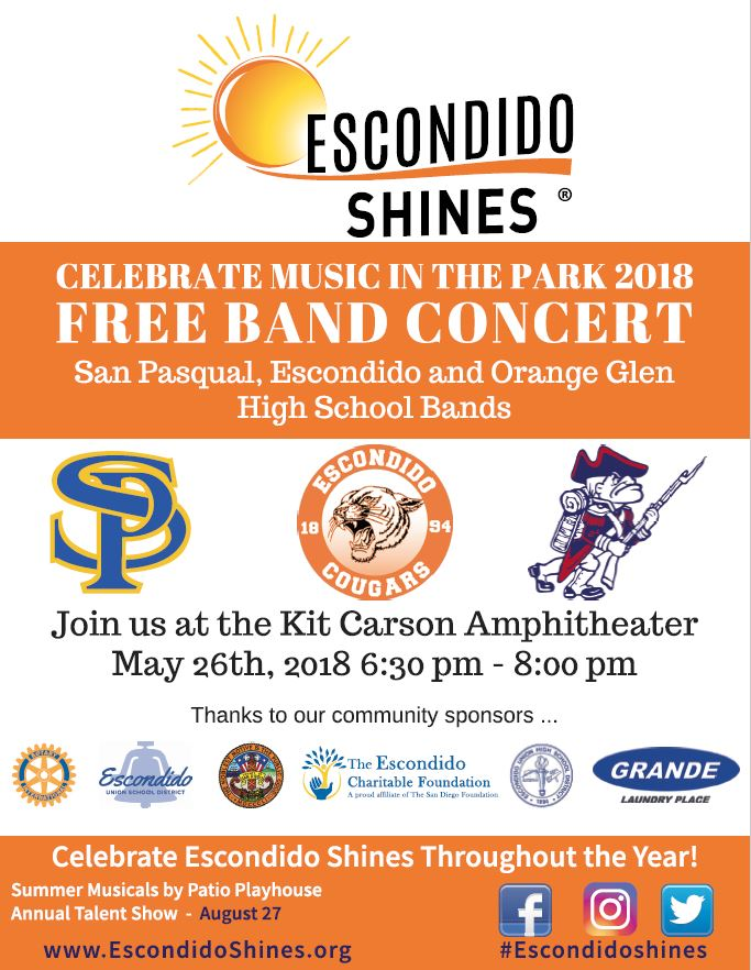 Free Band Concert presented by Escondido Shines
