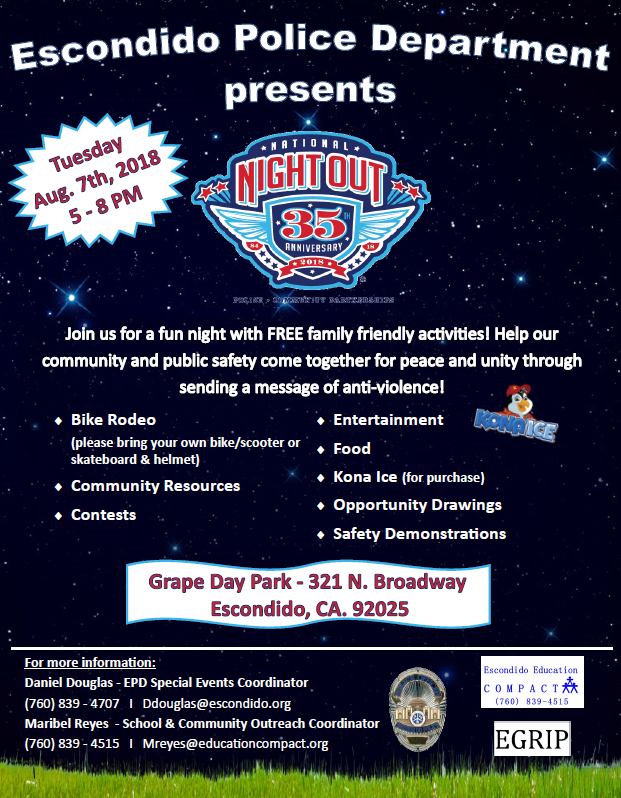 National Night Out in the Park!
