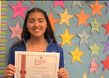 Inspirational Student of the Month: Savanna Flores on NBC San Diego