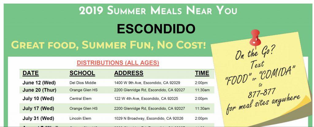 Escondido Summer Meals Program