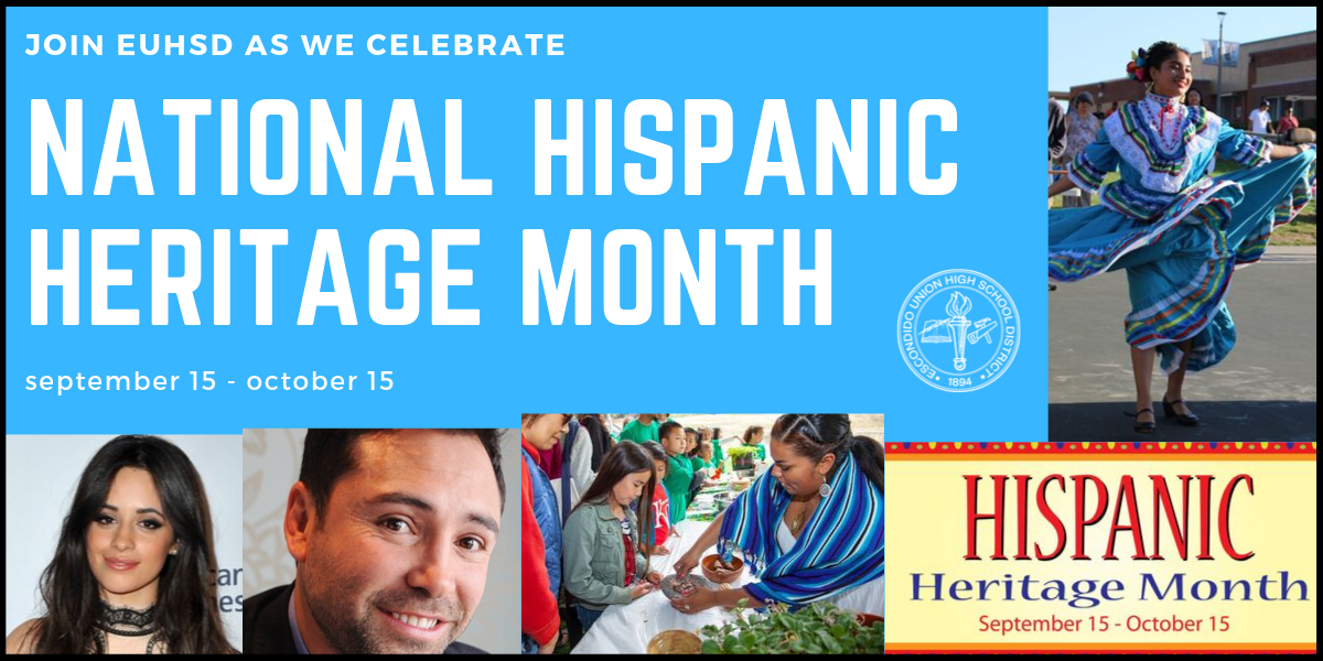 National Hispanic Heritage Month – September 15th – October 15th
